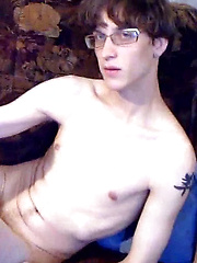 Seemingly nerdy tattooed twink Sacha is back and he is more than ready to put on an explicit show for you in this video. Geek chic is in and this ...