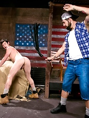 Naughty Chase Young did not finish his chores, so daddy Preston Steel needs to punish him